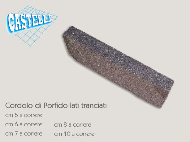 Porfido castelli ceramiche for Zoccolini in pietra
