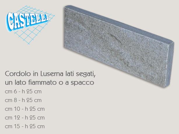Cordoli in pietra di luserna cemento armato precompresso - Pietra di luserna per esterni ...