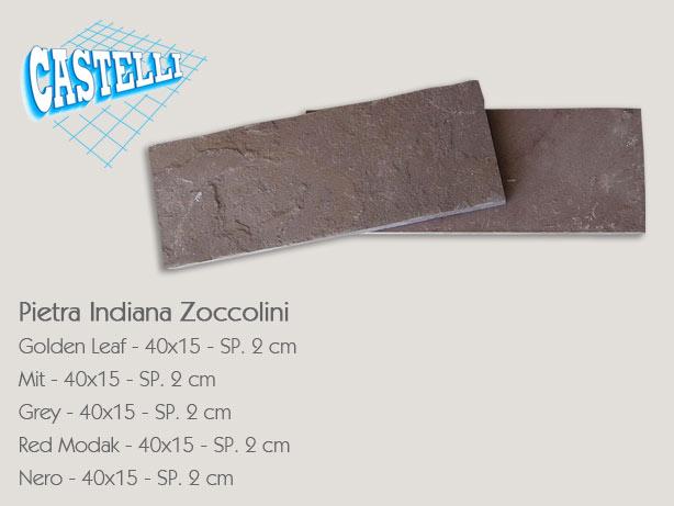 Pietra indiana castelli ceramiche for Zoccolini in pietra